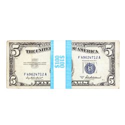 Lot of (20) 1953A $5 Silver Certificate Notes