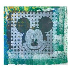 "Gail Rodgers ""Mickey Mouse"" Original Mixed Media On Canvas"