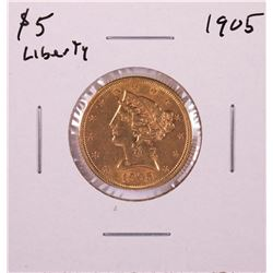 1905 $5 Liberty Head Half Eagle Gold Coin