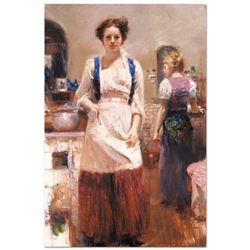 """Pino (1939-2010) """"The Country Chef"""" Limited Edition Giclee on Canvas"""