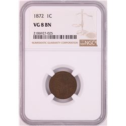 1872 Indian Head Cent Coin NGC VG8BN