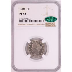 1901 Proof Liberty Head V Nickel Coin NGC PF63 CAC