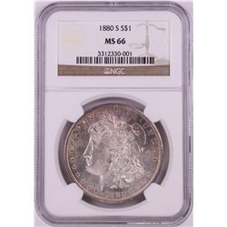 1880-S $1 Morgan Silver Dollar Coin NGC MS66