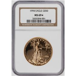 1994 $50 American Gold Eagle Coin NGC MS69 STAR Key Date