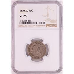1875-S Twenty Cent Piece Coin NGC VF25