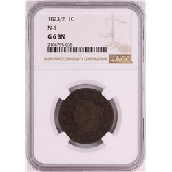 1823/2 N-1 Coronet Head Large Cent Coin NGC G6 BN