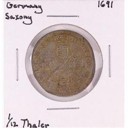 1691 Germany Saxony 1/12 Thaler Coin
