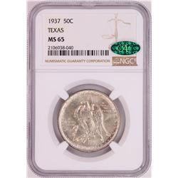1937 Texas Independence Centennial Commemorative Half Dollar Coin NGC MS65 CAC