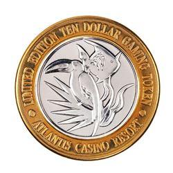 .999 Silver Atlantis Casino Resort Reno, NV $10 Casino Limited Edition Gaming Token