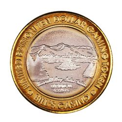 .999 Silver Bill's Casino Lake Tahoe, Nevada $10 Casino Gaming Token Limited Edition