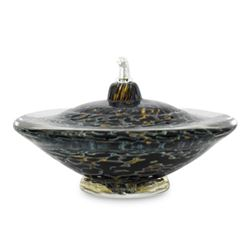 "Gartnerblade ""Small Saturn Oil Lamp"" Hand Blown Glass Sculpture"