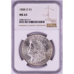 1888-O $1 Morgan Silver Dollar Coin NGC MS63