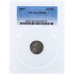1857 Seated Liberty Half Dime Coin PCGS MS66