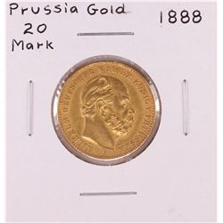 1888 Germany 20 Mark Prussia Gold Coin