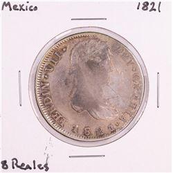 1821 Mexico 8 Reales Silver Coin