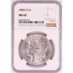1884-O $1 Morgan Silver Dollar Coin NGC MS62 Great Toning