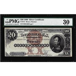 1880 $20 Silver Certificate Note Fr.311 PMG Very Fine 30