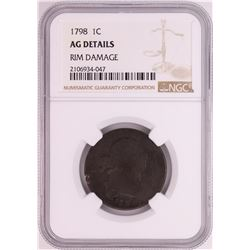 1798 Draped Bust Large Cent Coin NGC AG Details