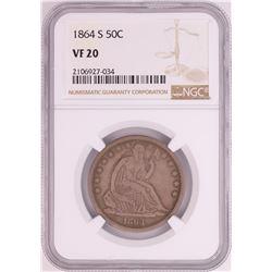 1864-S Seated Liberty Half Dollar Coin NGC VF20