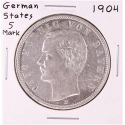 1904 German States 5 Mark Silver Coin