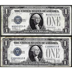 Lot of 1928A & 1928B $1 Funnyback Silver Certificate Notes