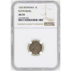 1624 Bohemia 1K Kuttenberg Coin NGC AU55