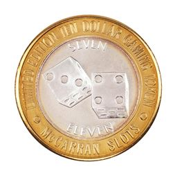 .999 Silver McCarran International Airport Las Vegas, NV $10 Limited Gaming Token
