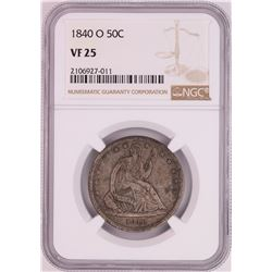 1840-O Seated Liberty Half Dollar Coin NGC VF25