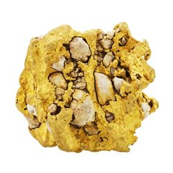 104.60 Gram Specimen Gold Nugget with Quartz