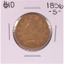1856-S $10 Liberty Head Eagle Gold Coin
