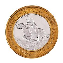 .999 Silver Sam's Town Las Vegas, Nevada $10 Limited Edition Casino Gaming Token