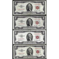 Lot of (4) 1953 $2 Legal Tender STAR Notes
