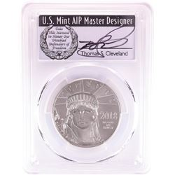 2018 $100 American Platinum Eagle Coin PCGS MS70 Cleveland Signature First Day of Issue
