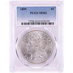 1899 $1 Morgan Silver Dollar Coin PCGS MS62