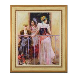 """Pino (1939-2010) """"Family Time"""" Limited Edition Giclee On Canvas"""
