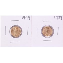 Lot of (2) 1999 $5 American Gold Eagle Coins