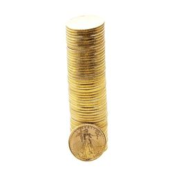 Original Tube of (50) 1999 $5 American Gold Eagle Coins