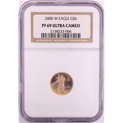 2000-W $5 Proof American Gold Eagle Coin NGC PF69 Ultra Cameo