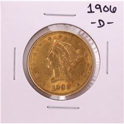 1906-D $10 Liberty Head Eagle Gold Coin