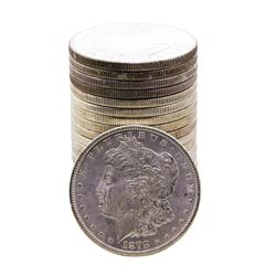 Roll of (20) Brilliant Uncirculated 1878-S $1 Morgan Silver Dollar Coins