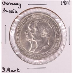 1911 Germany Prussia 3 Mark Silver Coin