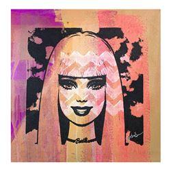 "Gail Rodgers ""Bazooka Joe"" Original Mixed Media On Canvas"