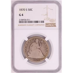 1870-S Seated Liberty Half Dollar Coin NGC G4