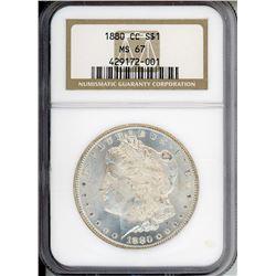 1880-CC $1 Morgan Silver Dollar Coin NGC MS67