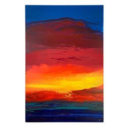 """Wyland """"Raging Sea"""" Original Acrylic On Board"""