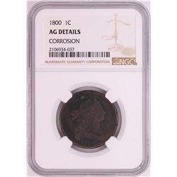 1800 Draped Bust Large Cent Coin NGC AG Details