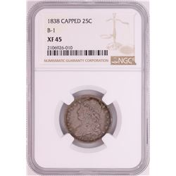 1838 B-1 Capped Bust Quarter Coin NGC XF45