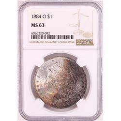 1884-O $1 Morgan Silver Dollar Coin NGC MS63 Nice Toning