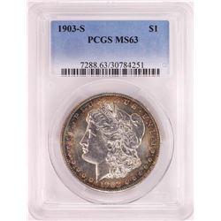 1903-S $1 Morgan Silver Dollar Coin PCGS MS63