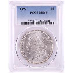 1899 $1 Morgan Silver Dollar Coin PCGS MS63